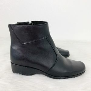 Martins Black Leather Zipper Ankle Women's Boots